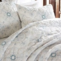 Evie Embroidered Quilt & Sham