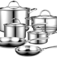 Cooks Standard Multi-Ply Clad Stainless-Steel 10-Piece Cookware Set:Amazon:Kitchen & Dining