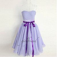 Cute elegant  lace stapless prom dress