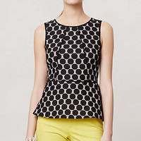 Anthropologie - Piped Peplum Blouse
