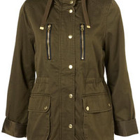 Khaki Hooded Talbot Jacket - Back In Stock  - New In