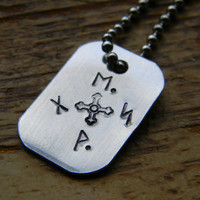 compass runes aluminum necklace hobbit inspired