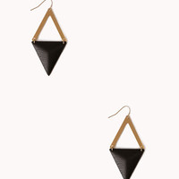 Faux Leather Triangle Earrings