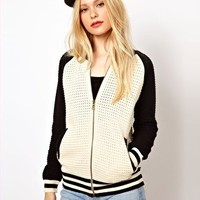 River Island Baseball Jacket at asos.com
