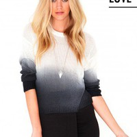 Missguided - Dorris Ombre Knitted Jumper In Black