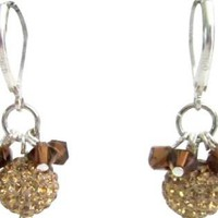 Colorado Rhinestones Genuine Pave Ball Earrings
