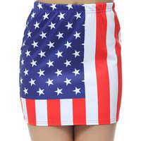 Starry Night — USA Flag Mini Skirts