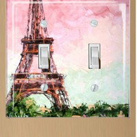 Eiffel Tower Double Light Switch Plate Cover | SmittenDesigns - Novelty on ArtFire