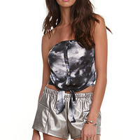 Kirra Print Strapless Tie Front Top at PacSun.com