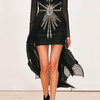 Sass & bide | The Bravado embellished mesh and silk-chiffon dress | NET-A-PORTER.COM
