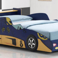 Formula 8 Blue Race Car Bed