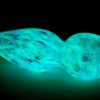 Glow in the Dark Glass Pipe E5 by TheGoodTimesGlass on Etsy