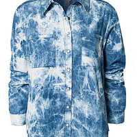 Bleach Denim Shirt, Jeane Blush