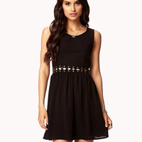 Lace-Up Cutout Dress