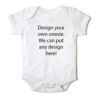 Design Your Own Onesuit for Baby Girl One Piece Bodysuit