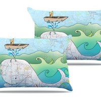 I am on a Boat Pair of Pillowcases by Catherine Holcombe