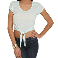 Crochet Back Tie Tee | Shop Tie Front Tops at Wet Seal