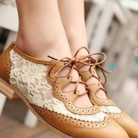 Vintage GB Lace Shoes from sniksa