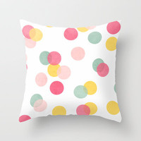confetti Throw Pillow by her art