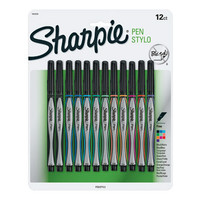 Sharpie Pen Stick Fine Point Pens, 12 Colored Ink Pens