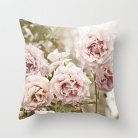 Pink Roses  Throw Pillow by Bree Madden