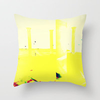 Yellow Throw Pillow by Irène Sneddon