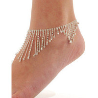new — Diamond oranges foot chain