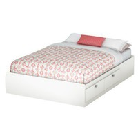 Delano Mates Kids Bed - White (Full)