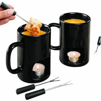 Personal Fondue For Two Mugs - Set of 2