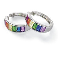 Rainbow Earrings                                   - New Age, Spiritual Gifts, Yoga, Wicca, Gothic, Reiki, Celtic, Crystal, Tarot at Pyramid Collection