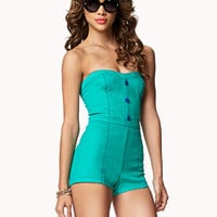 Sweetheart Denim Romper | FOREVER 21 - 2039286746
