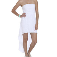 Strapless Keyhole High-Low Dress | Shop Dresses at Wet Seal
