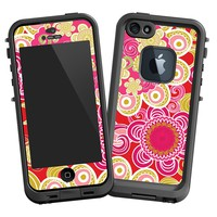 Abstract Pink Floral Skin for Lifeproof iPhone 5 Case