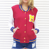 Jacket Varsity Blues Maroon