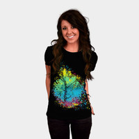 pixels blooming T-shirt by kharmazero from Design By Humans