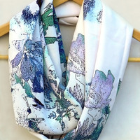 Infinity Scarf. Multicolor Circle Scarf. Loop Scarf. Women Accessories