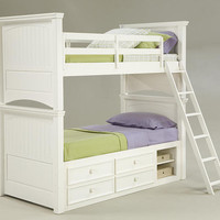 Somerset Bay White Twin over Twin Bunk Beds
