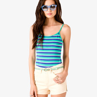 Striped Spaghetti Strap Top | FOREVER21 - 2021839560