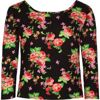 FULL TILT Floral Girls Bodycon Top