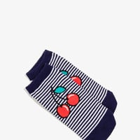 Striped Cherry Ankle Socks | FOREVER21 - 2026131387