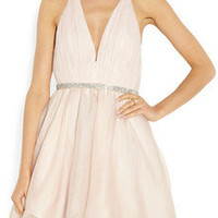 Alice + Olivia | Brooke silk-chiffon and silk-organza dress | NET-A-PORTER.COM