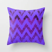 purple chevron Throw Pillow by Marianna Tankelevich
