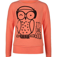 FULL TILT It's Owl Good Girls Cold Shoulder Tee
