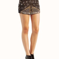 studded-mini-skirt BLACK - GoJane.com