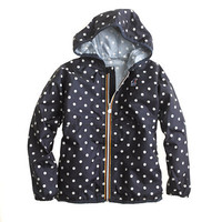 Girls' K-Way® for crewcuts Claude Klassic jacket in polka dot
