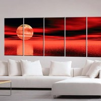 Sunset Paintings, Sunset Painting, Oil Painting, Canvas Art c0097:Amazon:Home & Kitchen
