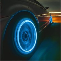 HDE® Neon Blue Strobe LED Light Tire Valve Caps