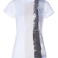 Jil Sander - Printed Cotton T-Shirt in White/Grey-Multi