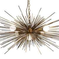 Gold Urchin Chandelier Lighting with Five Lights