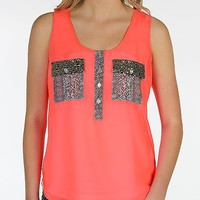 Daytrip Neon Henley Tank Top - Women's Shirts/Tops | Buckle